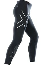 2XU Mens Compression Tights ( Black / Silver )  FREE DELIVERY AUS WIDE!