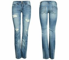NEU ONLY Damen Denim Hüft Jeans Hose STRAIGHT LOW AUTO DESTROY BJ 2368 chiara