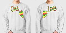 ONE LOVE equality Gay Lesbian equal Right Couples Matching Gray Crew Sweatshirts