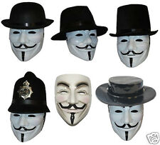 Anonymous V for Vendetta Mask & Hat Guy Fawkes We Are 99% Disobey Jack Ripper