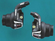SHIMANO REVOSHIFT BIKE GEAR TWIST GRIP SHIFTERS. 3 ,7,18 OR 21 SPEED SETS SLRS35