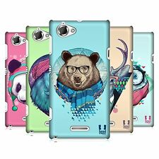 HEAD CASE DESIGNS FAUNA HIPSTERS CASE COVER FOR SONY XPERIA L C2105