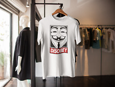 DISOBEY V FOR VENDETTA MENS T-SHIRT GUY FAWKES OBEY
