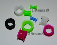 Pair Soft Silicone Ear Ring Stretcher Tunnels. Choice of Size and Colours