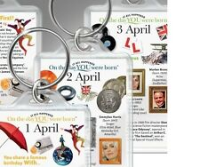 On the day YOU were Born Birthday KEYRINGS, All dates 1st July to 31st December