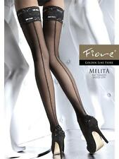 Fiore MELITA 20 Den Sensuous patterned hold-ups with a sexy lace top.