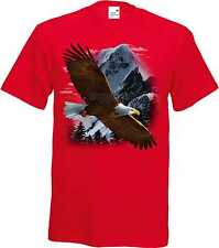 T Shirt im Rotton mit einem Tier-/Naturmotiv Modell Flying Eagle