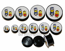 Despicable Me Batman & Robin Ear Ring Plug Stretcher in Sizes: 6 to 25 mm