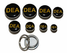 DEA Logo Breaking Bad Stainless Steel Ear Ring Stretcher Plugs. All Sizes