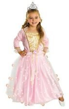 Kids Pink Fairy Rose Princess Girls Light Up Fancy Dress Costume Party Outfit