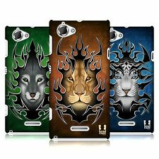 HEAD CASE DESIGNS TRIBAL ANIMALS CASE COVER FOR SONY XPERIA L C2105