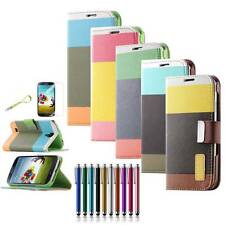 FLIP Leather Wallet TPU Defender Box Case Cover Smart Wake For SAMSUNG GALAXY S4