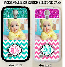 PERSONALIZED CUSTOM PHOTO PINK CHEVRON CASE For Samsung Galaxy S6 S7 NOTE 5 4 3