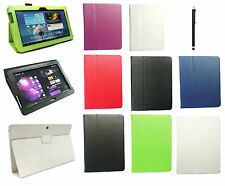 Samsung Galaxy Tab 2 10.1 Inch P5100 & P5110 Wallet Case Cover & Black Stylus