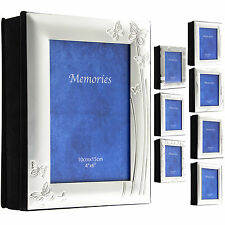 "SLIGHT SECONDS - MEGA SALE Photo Album Silver Plated Frame Front 72 6x4"" Photos"