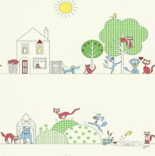 LUXURY HOLDEN CATS AND DOGS CHILDRENS KIDS BEDROOM NURSERY WALLPAPER ROLL 10720