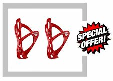 2 x ACOR CYCLE BIKE BOTTLE CAGE cages Red or White 800ml Water Bottles