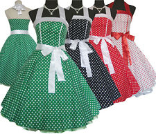 Vintage Dress Dancing Party Polka Dot Spot Swing Rockabilly Halter Pinup 50s 60s
