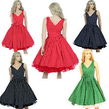 Vintage Dancing Party Rockabilly Swing Spot Dot Polka Ball Prom Party 50's Dress