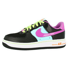 NIKE AIR FORCE 1 GS SCARPE NERE VIOLET ICE RETRO SNEAKER 314219-009 DUNK 07