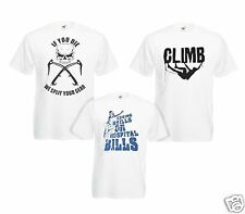 Rock Climbing Bouldering TShirt Climb Mountaineering T Shirt 100% Cotton