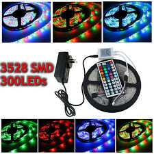IP65 5M 10M 15M 300 LED 3528 SMD Strip RGB Bande Ruban Lampe Etanche Waterproof