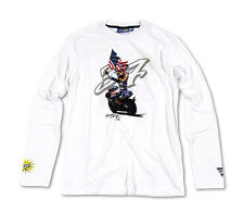 New Official Kevin Schwantz White Motorcycle Long Sleeve T-Shirt