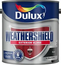 Dulux Weathershield Exterior Gloss 2.5L Black, Buckingham, Oxford Blue, Conker