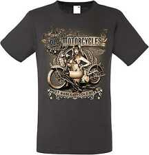 T-Shirt in Graphite Sound HD Biker chopper&old schooldruck Model Old Motorcycles