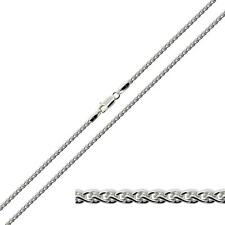 925 Solid Sterling Silver 1.8mm Spiga Wheat Chain Necklace Bracelet Anklet