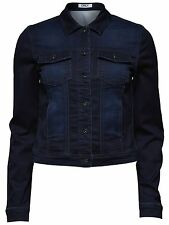 ONLY Damen Denim Jeansjacke Jacke WESTA DNM JACKET PIM37 dark blue dunkelblau