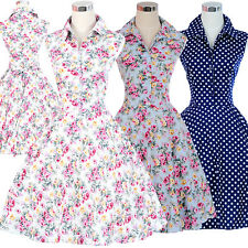 Vintage Dancing Party Swing Rockabilly Jive Prom Polka 50s 60s Spotted Tea Dress