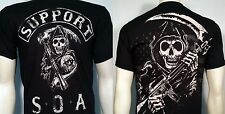 SONS OF ANARCHY SUPPORT SOA REAPER MOTORCYCLE BIKER TATTOO PUNK T SHIRT S-3XL