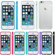 CLEAR Hard Back Silicone TPU Bumper Case Cover For iPhone 6 4.7 Air + SP
