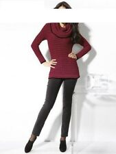 Pull Long Heine Ashley Brooke noir-rouge Taille 34 36 38 40 42 44 46