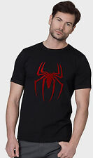 Tshirts ( Spiderman Best ) , Mens Red Foil Printed Black Tee Shirts