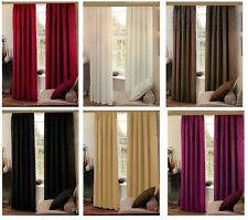 Luxury Faux Silk Fully Lined Pencil Pleat Ready Made Pair of Curtains +Tie Backs