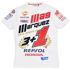 Official Limited Edition Marc Marquez 3+1 2014 Motogp Mundo Champion camiseta