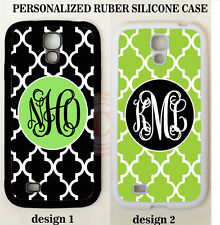 BLACK LIME GREEN TRELLIS MONOGRAM PHONE Case For Samsung Galaxy S7 S6 NOTE 5 4 3