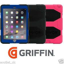 Griffin Survivor Hard Rugged Case for APPLE iPad Air 2 in Blue Black Pink NEW