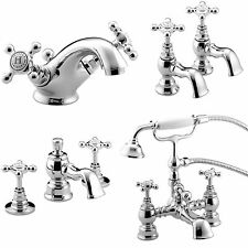 BRISTAN TRINITY TAPS BASIN MIXER BATH SHOWER FILLER CHROME MONO BATHROOM SET