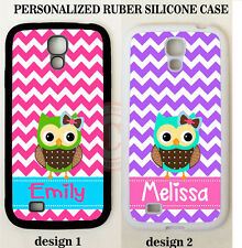 PINK PURPLE CHEVRON OWL MONOGRAM PHONE Case For Samsung Galaxy S9 S8 S7 NOTE 8 5