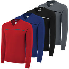 Adidas 3-Stripes V-Neck Mens Golf Sweater. 4 Colours Available
