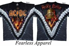 Acdc Ac/Dc Hells Bells Tie Dye Music Young Rock Mens Tee T Shirt Size S-2Xl