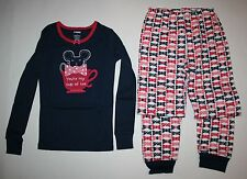 NEW Gymboree Mouse in Tea Cup Top & Bow Print Pants Pajamas Gymmies PJs 3 5 6 8