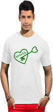 Men's Round Neck T-shirt (Unlock The Heart) - Guys Graphic Tshirt