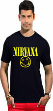 Men's Round Neck T-shirt (Nirvana Smiley) - Guys Graphic Tshirt