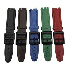 Leather Watch Strap for Swatch Gents 17mm Width, Quality Leather in 5 Colours