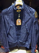 PARAJUMPERS ITALY NEWPORT MEN'S SPRING JACKET 100% GENUINE, OCEAN BLUE  L XL 2XL