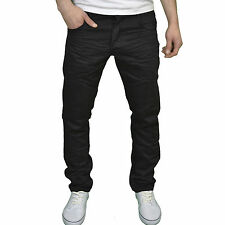 Eto Mens Designer Branded Regular Fit Straight Leg Jeans, Black. BNWT